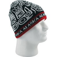 Red Totemic Knit Hat