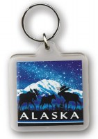 Denali Night Sky Moose Keychain