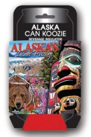 Alaska Totem / Bear Can Coozie