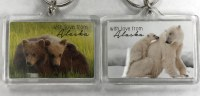 Brown Bear & Polar Bear 'with love from Alaska' Keychain