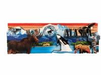Alaska Icons Stamped Magnet