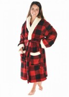 Moose Plaid Bathrobe - S/M