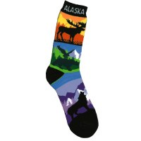 Color Stripe Alaska Towel Socks