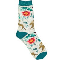 Women's Crewel Moose Socks