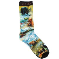 Women's Alaska Summer Collage Socks