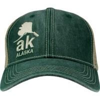 Green AK Alaska Ball Cap
