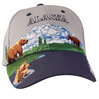 Alaska Summer Collage Ball Hat