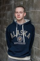 Navy Pique Alaska Hoodie - Medium