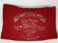 Red Ketchikan Alaska Quarter Back Mountain Full Zip Hoody - Small