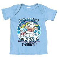 My 1st Alaska Tee in Blue - 18MO