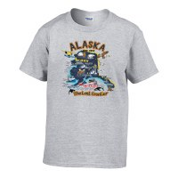 Alaska Map Youth Tee - Medium