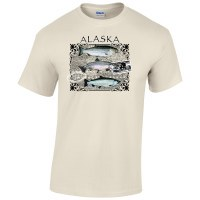 Alaska Salmon Species Tee - 2XL