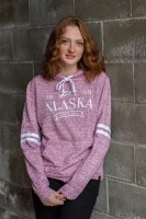 Women's Pink Marble Pullover - Large