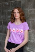 Ladies Flowers In Bloom Tee - Medium