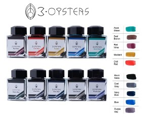3 Oysters Bottled Ink- Delicious Collection 38ml