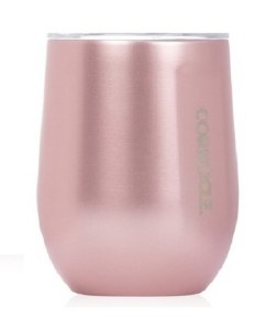 Corkcicle Stemless Wine Cup 12oz- Metallic Collection Rose