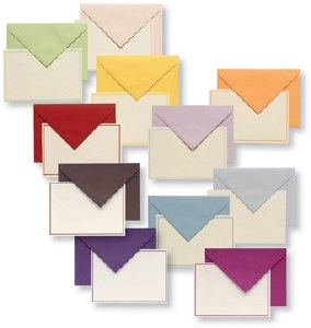 Bordered Writing Cards - Box of 10