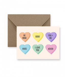 IM PAPER Candy Hearts Valentine's Day Card