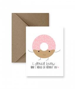IM PAPER I Donut Know Card