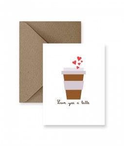 IM PAPER Love You A Latte Card