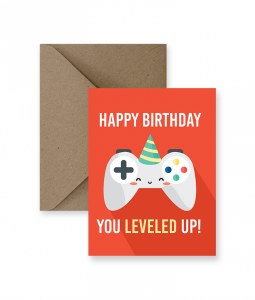 IM PAPER Leveled Up Birthday Card