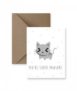 IM PAPER  You're Super Pawsome Card