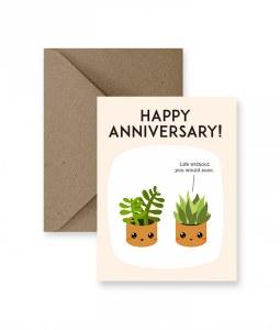 IM PAPER Succulent Anniversary Card