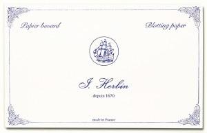 J. Herbin Blotting Paper- White 10 per package