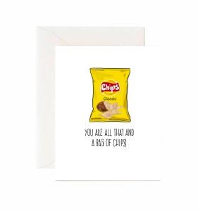 Jaybee Designs Bag Of Chips Card