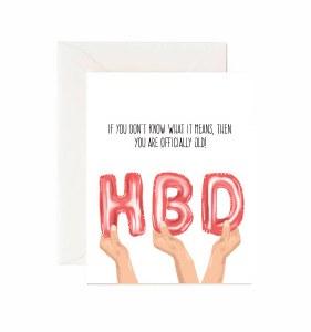 Jaybee Designs HBD Birthday Card