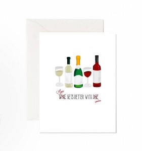 Jaybee Designs Age Gets better With Wine Card