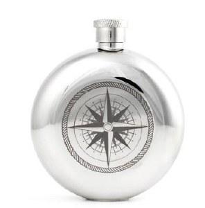 Kikkerland Compass Flask