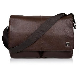 Knomo London Bungo Messenger Bag in Leather