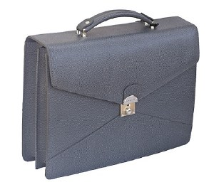 Laurige 2 Gusset Envelope Leather Briefcase