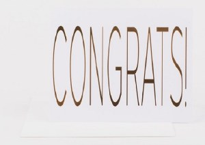 Wrinkle and Crease Congrats! Card