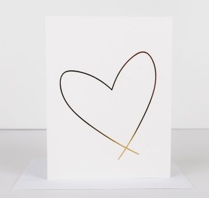 Wrinkle and Crease Lewiston Heart Card