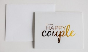 Wrinkle and Crease To the Happy Couple Card