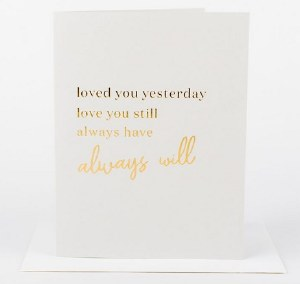 Wrinkle and Crease Always Love You Card