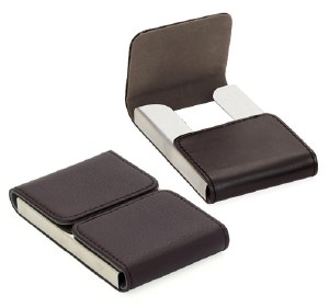 Duo Business Card Holder in Black