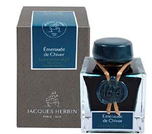 Jacques Herbin 1670 Shimmer Ink- Emerald of Chivor 50ml