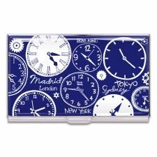 "Acme Business Card Case ""Clocks"" -Nancy Wolff"