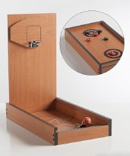 Retro Basketball and Shuffleboard Game