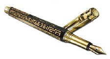 Caran D'Ache Kufi Art Limited Edition Fountain Pen in Gold