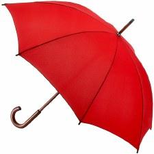 Fulton Kensington Walking Umbrella in Lipstick Red