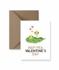 IM PAPER Hap- Pea Valentine's Day Card