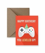IM PAPER Leveled Up Birthday Card