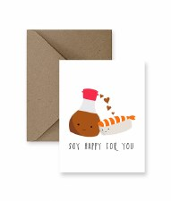 IM PAPER Soy Happy For You Card