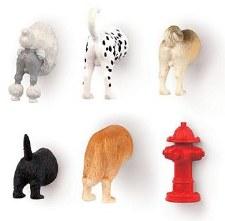 Kikkerland Dog Butt Magnets