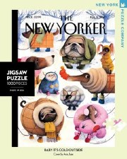 """New York Puzzle Co. The New Yorker """"Baby It's Cold Outside"""""""