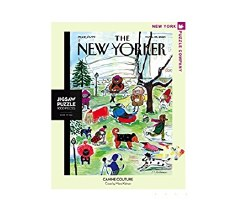 """New York Puzzle Co. The New Yorker """"Canine Couture"""""""